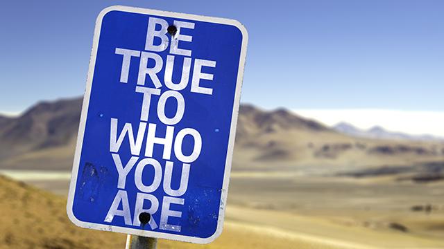 Blue Road Sign in Desert: