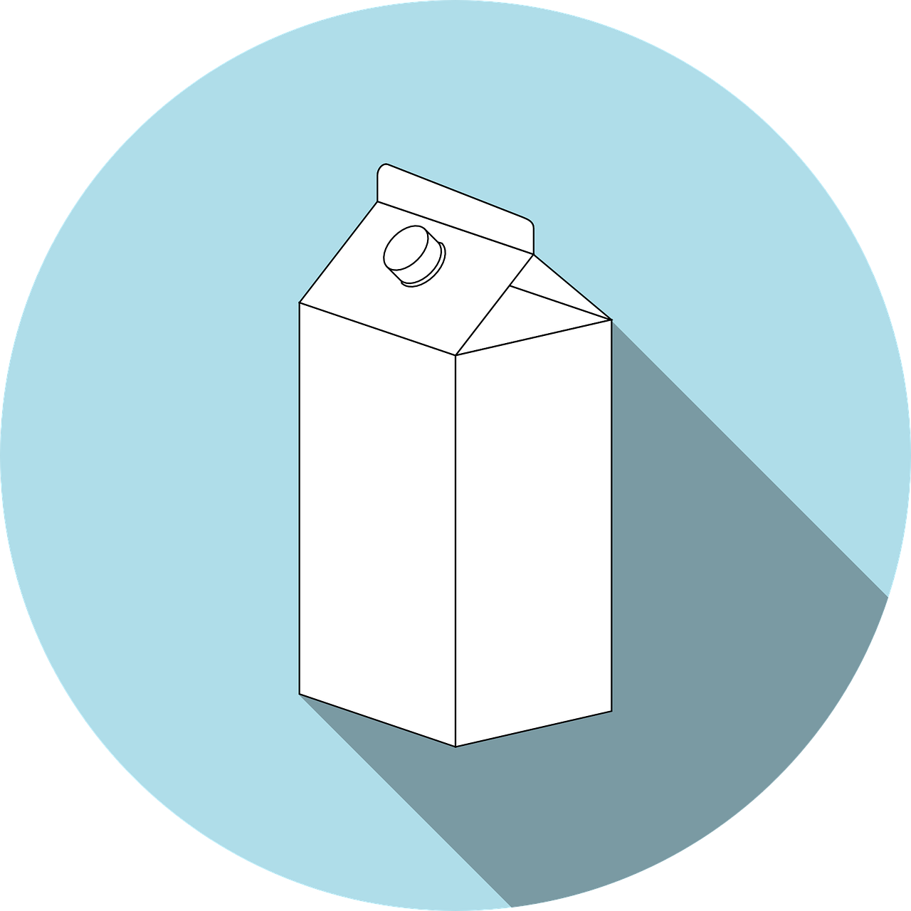 Milk Carton Graphic