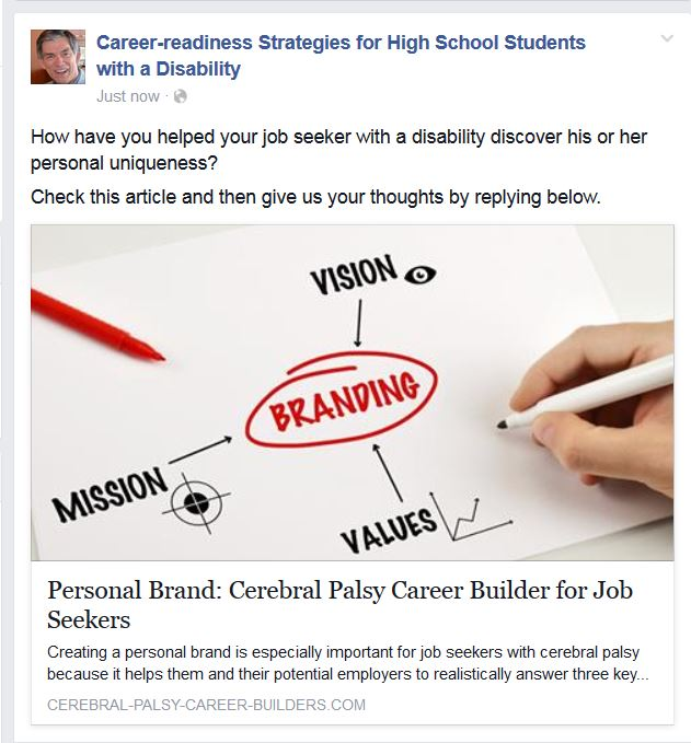 Sample Facebook entry from the Week 10 link above, using the second of the three potential discussion questions.