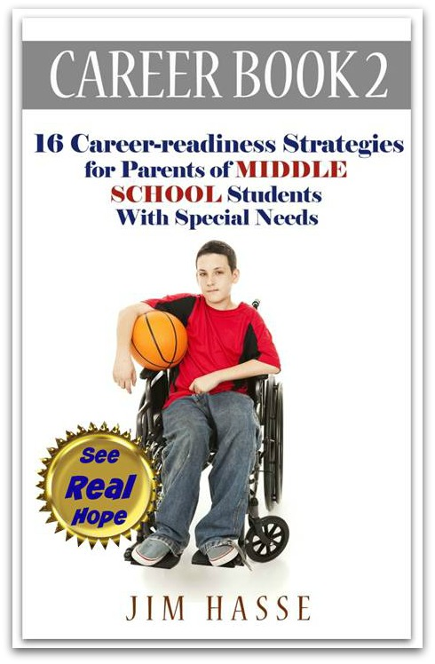 Cover of Career Book 2 showing middle school student in wheel chair holding a basketball.