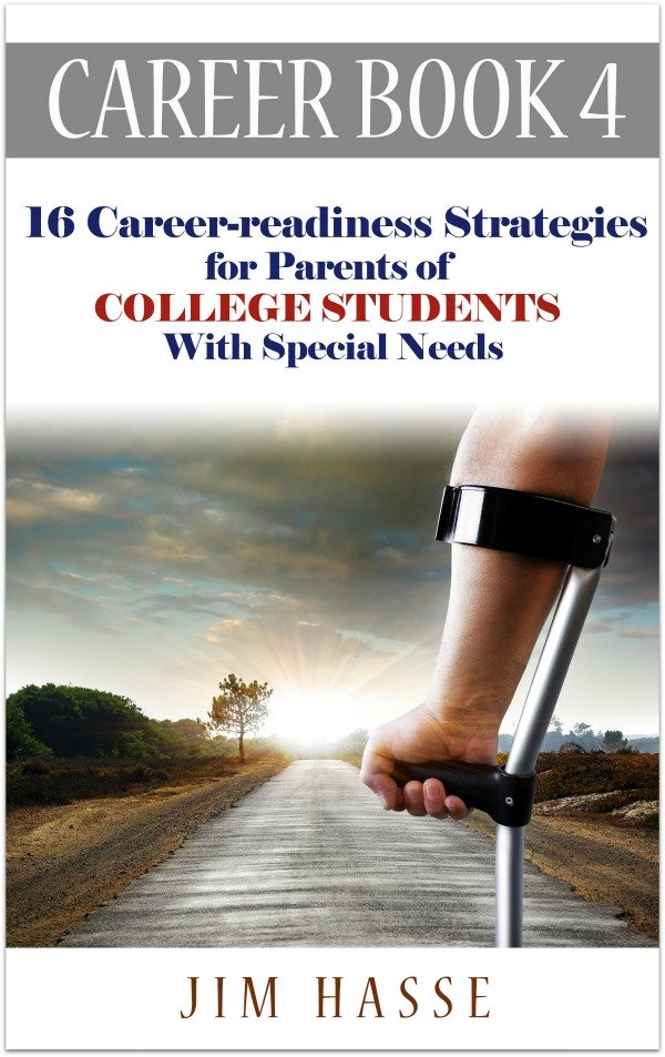 Cover of Career Book 4 showing arm of young person in the arm brace of a Canadian crutch with a scenic road in the background.