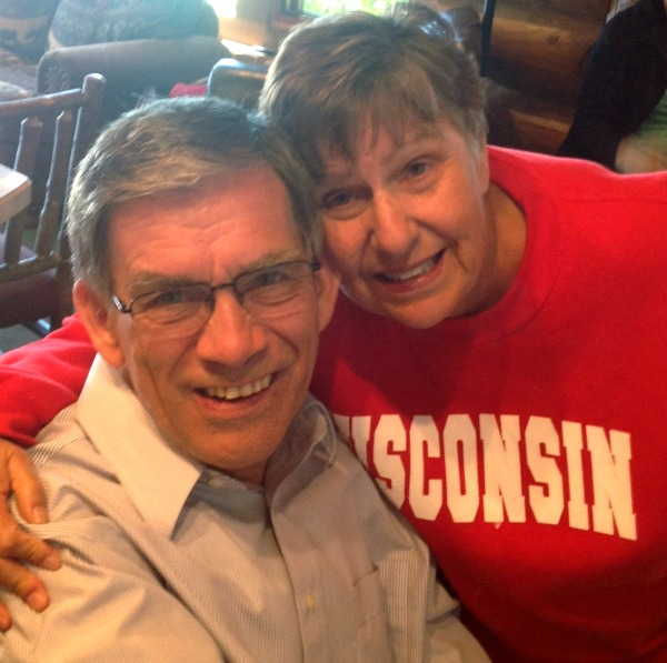 Jim and Pam (in University of Wisconsin pull-over) in September 2013.